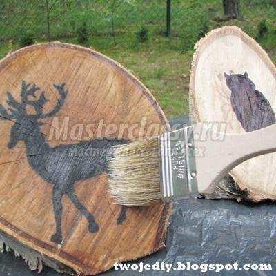 декоративный забор из спилов брёвен мастер-класс