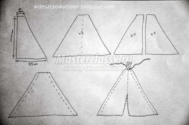 Как сшить палатку своими руками