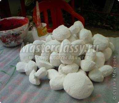Камни из пенопласта своими руками