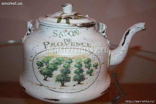 декорируем старый чайник мастер-класс