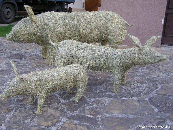 фигурки животных из сена-соломы мастер-класс