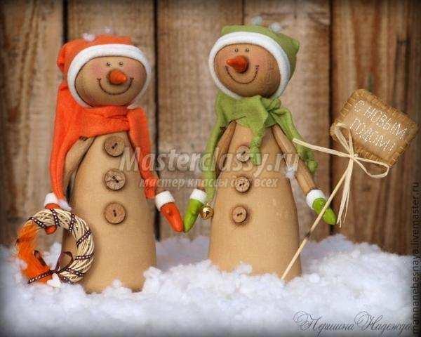 поделки на новый год кофейный снеговик мастер-класс