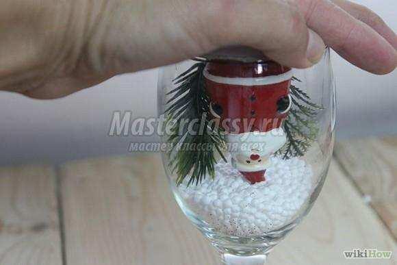 Снежный шар своими руками из бокалов