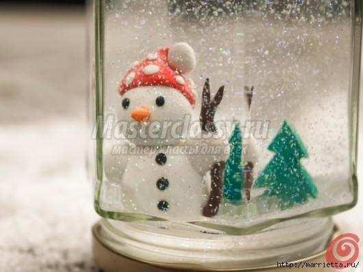 Новогодние шары со снегом внутри своими руками