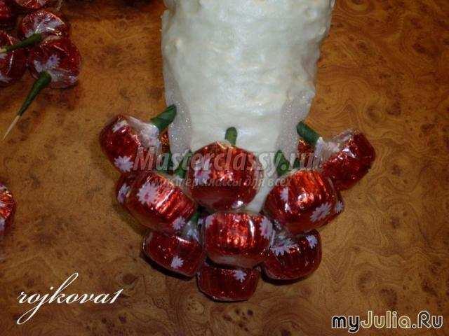 Как сделать из конфет фрукты своими руками  416