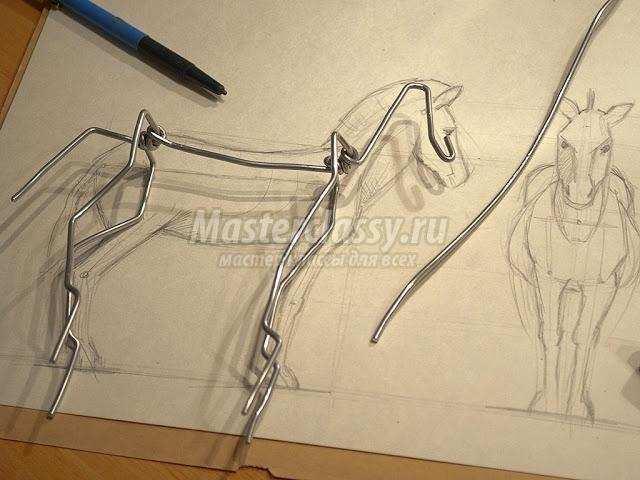 Фигуры из проволоки своими руками пошагово животных 22