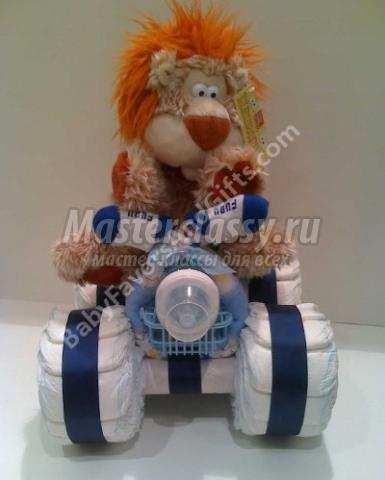 мотоцикл из памперсов своими руками мастер-класс с пошаговым фото