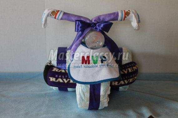 Мастер-класс мотоцикл из памперсов своими руками