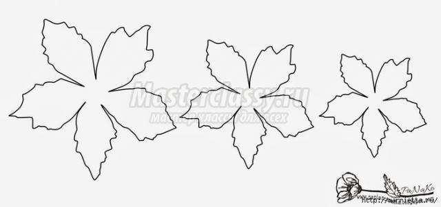 Шаблоны цветов для скрапбукинга своими руками