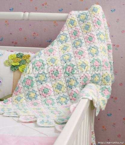 Детское одеяло крючком схема фото 544
