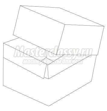 Схема оригами «Коробка с