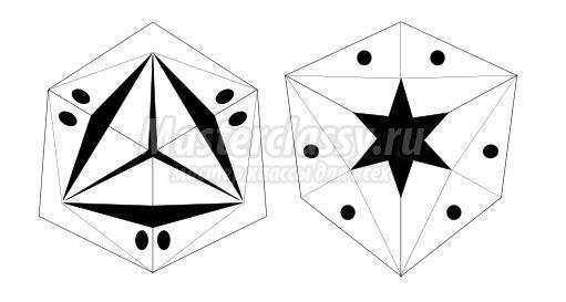 схема оригами тетраэдр
