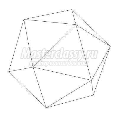 Схема оригами «Икосаэдр».