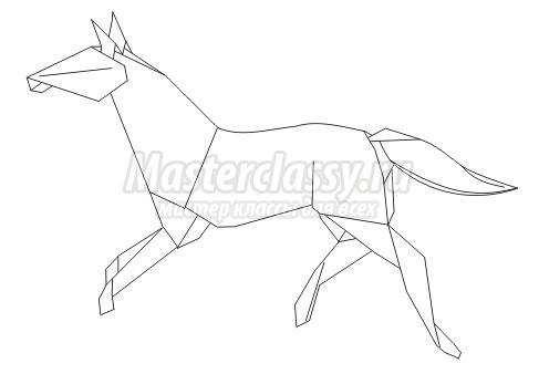 Схема оригами «Лошадь» своими
