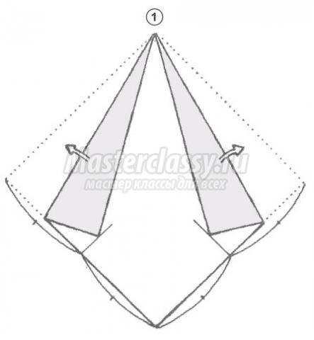 схема оригами лошадь своими