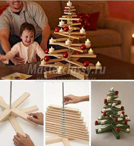 Как сделать елку с веток своими руками