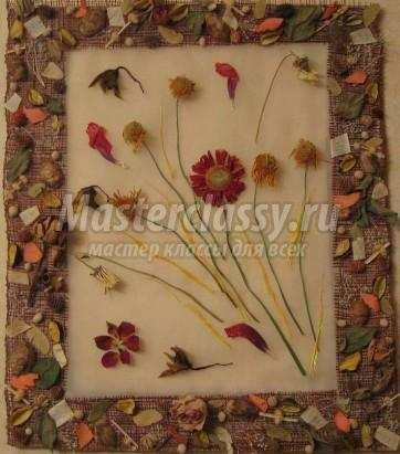 Картины своими руками фото сухоцветы