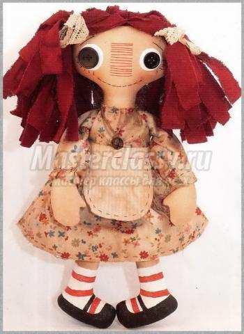 традиционная американская кукла Реггеди Энн своими руками мастер-класс с пошаговым фото