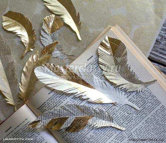 Перья из бумаги своими руками фото