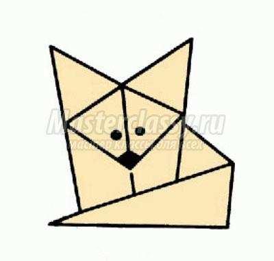 как сделать оригами лисёнок
