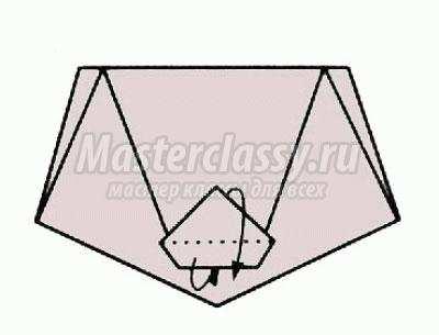 оригами тигрёнок схема