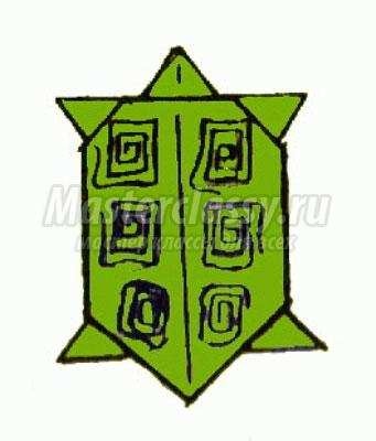 схема оригами черепаха своими