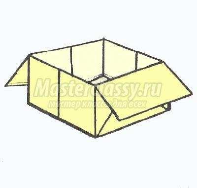 схема оригами коробочка своими