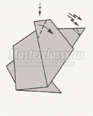 оригами волк схема
