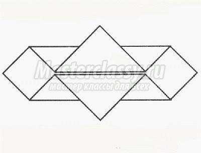 схема оригами головного убора