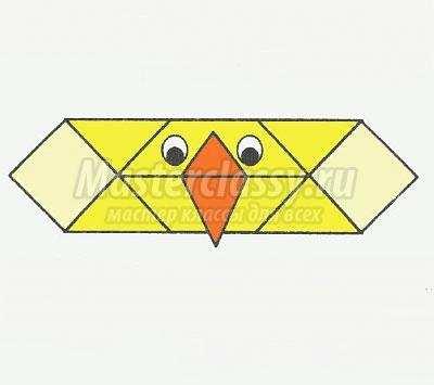 как сделать оригами головного