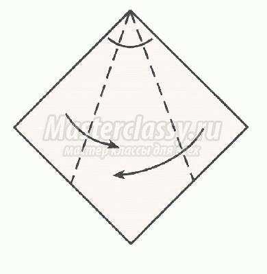 как сделать оригами гуси схема