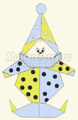 """Схема оригами """"Петрушка"""""""