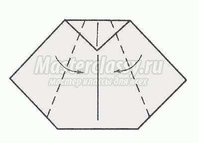 Модульное оригами ёжик схема