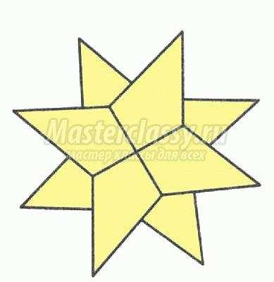 оригами звёздочка ниндзя схема
