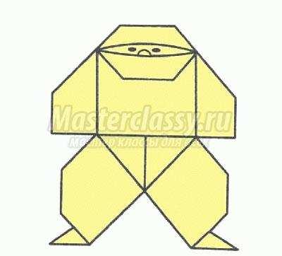схема оригами ниндзя своими