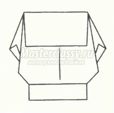 схема оригами старый гном