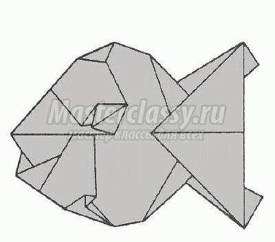 """Схема оригами """"Большая рыба"""""""