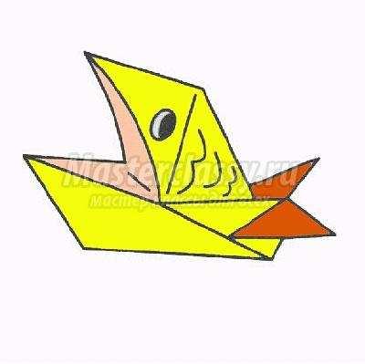 как сделать оригами рыбка с