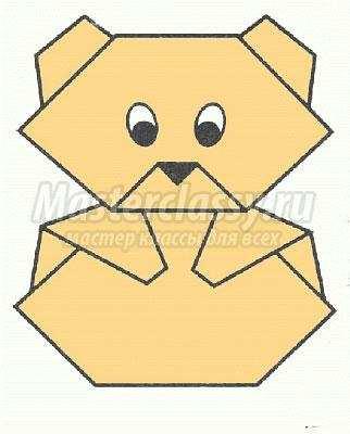 как сделать оригами мишка