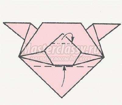 Схема оригами поросёнка