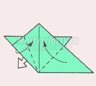 схема оригами надувной цветок