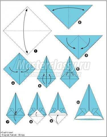 как сделать оригами шапочка