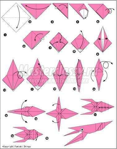 оригами рак своими руками