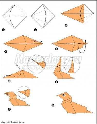 как сделать оригами утка