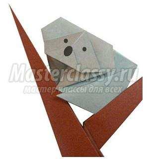 как сделать оригами коала схема мастер-класс с пошаговым фото