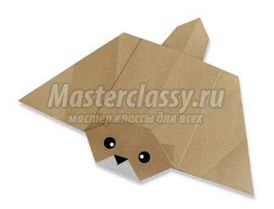 схема оригами белка летяга