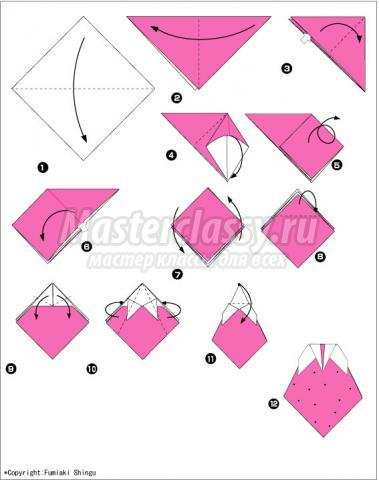 оригами клубника своими руками