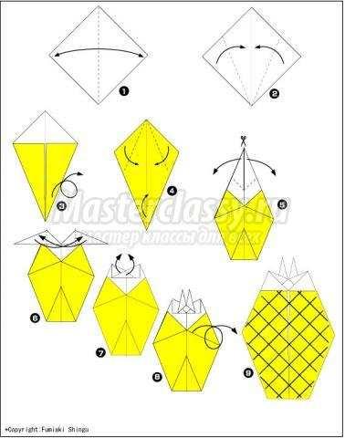 оригами ананас своими руками