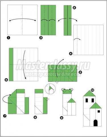 как сделать оригами домик