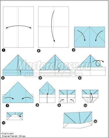 оригами кепка из газеты своими